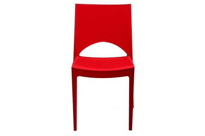 Chaise design rouge effet laqu delhi design pas cher sur sofactory for Chaise factory rouge