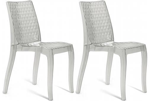 lot de 2 chaises transparentes delphine design sur sofactory. Black Bedroom Furniture Sets. Home Design Ideas