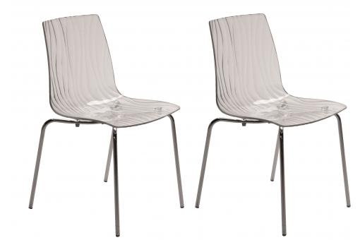 Lot de 2 Chaises Design Transparentes ARC SoFactory