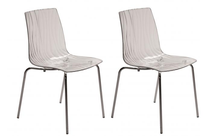 Lot de 2 chaises design transparentes arc design pas cher - Lot de chaise design pas cher ...