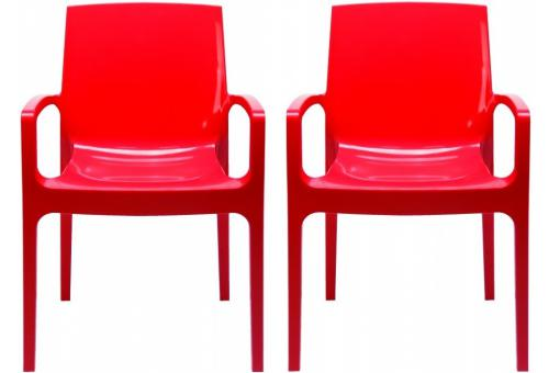 Lot de 2 Chaises Design Rouges TARN SoFactory