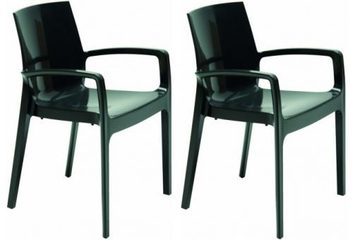 Lot de 2 Chaises Design Grises TARN