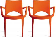 Sofactory - TURIN - Chaise orange
