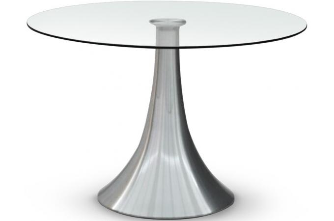 Table transparente en verre FREDDY