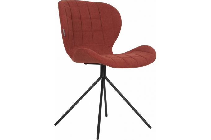 Chaise orange en tissu madame design pas cher sur sofactory for Chaise en tissu pas cher