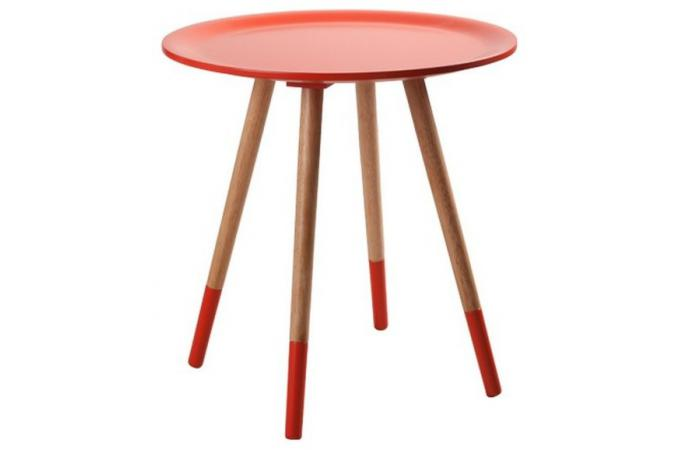 Table d'appoint orange MAEVA