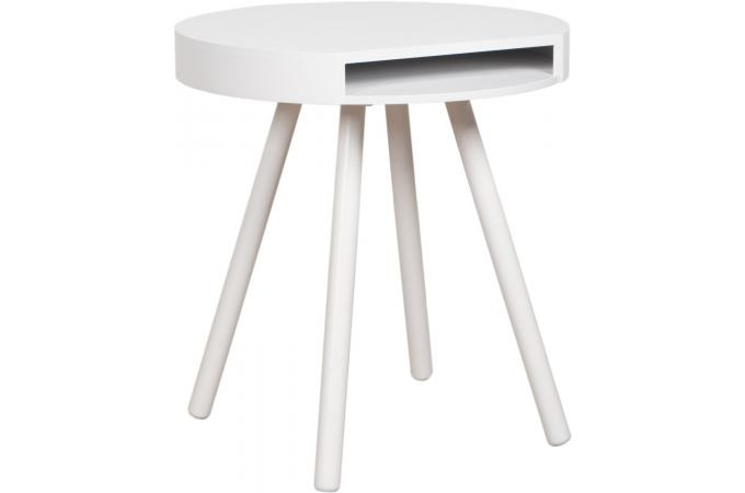 Table d'appoint blanc  STAN