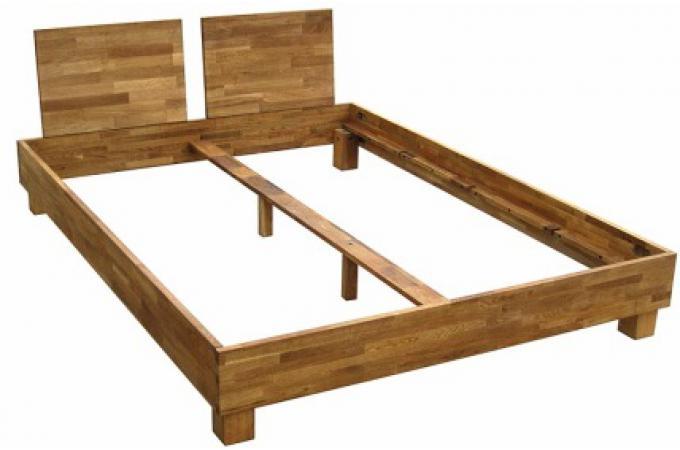 Préférence Lit 160x200 cm et 2 têtes de lit en chêne massif CASTA design sur  AI86