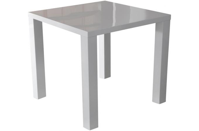 Table manger carr blanche laqu e lana design sur sofactory for Table de salle a manger carre