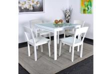 Table de repas extensible 180 cm Blanche ELENA