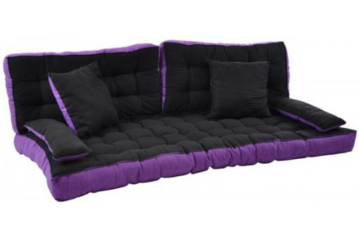 matelas futon pour clic clac avec 4 coussins 100 coton h. Black Bedroom Furniture Sets. Home Design Ideas