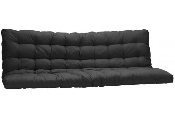 matelas futon pour clic clac 135x190 cm noir dos enveloppant 100 coton plus design sur sofactory. Black Bedroom Furniture Sets. Home Design Ideas