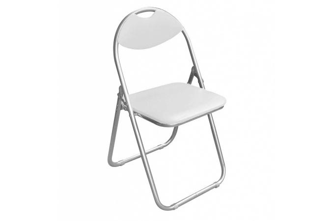 Lot de 6 chaises pliantes blanches piga design pas cher sur sofactory - Chaise pliante pas cher ...