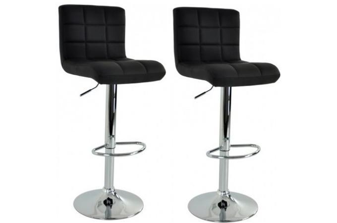 Lot de 2 tabourets de bar noir cosy design sur sofactory for Chaise de bar confortable
