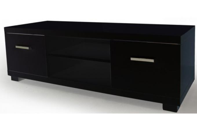 meuble tv laqu noir madrid design sur sofactory. Black Bedroom Furniture Sets. Home Design Ideas