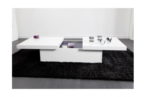 Table basse coulissante Blanche MADRID