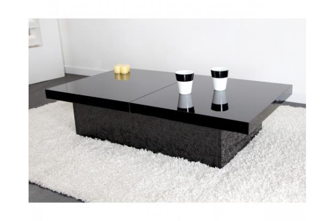 Table Basse Coulissante Noire Madrid Design Sur Sofactory