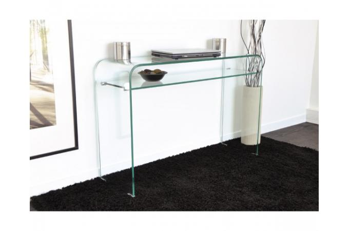 console en verre ottawa design sur sofactory. Black Bedroom Furniture Sets. Home Design Ideas