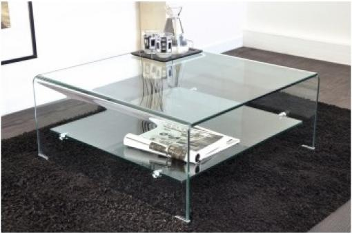Table basse carr en verre ottawa design pas cher sur - Table basse en verre pas cher ...