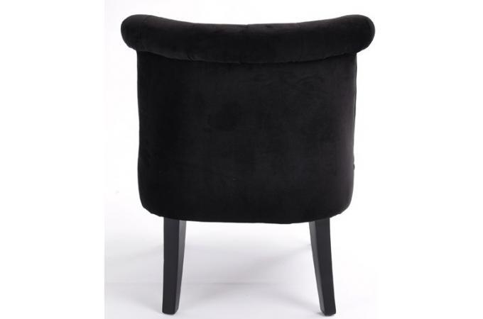 Fauteuil crapaud capitonn noir england design pas cher sur sofactory - Fauteuil crapaud noir ...