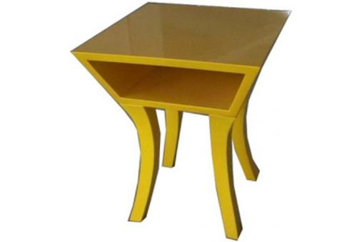 Table de chevet jaune jaune