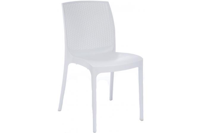 chaise de jardin empilable blanche en polymeric kimie. Black Bedroom Furniture Sets. Home Design Ideas