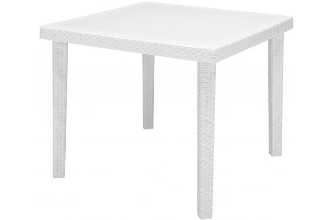 table de jardin carr e blanche en polymeric calin design en direct de l 39 usine sur sofactory. Black Bedroom Furniture Sets. Home Design Ideas