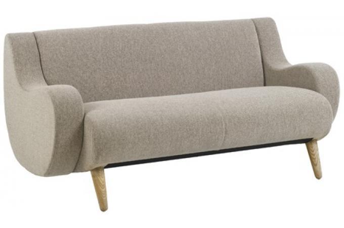 Canap 2 places beige en tissu bart design pas cher sur sofactory - Canape tissu 2 places pas cher ...