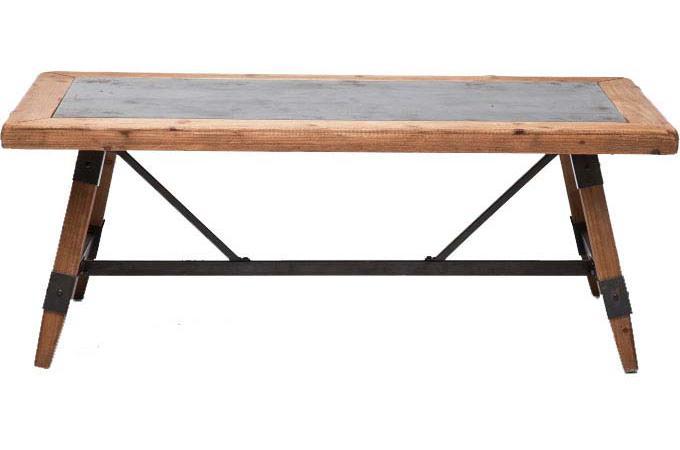 Table basse marron plaqu bois medi design pas cher sur - Table basse marron ...
