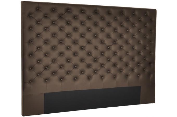 t te de lit en simili 160 x 120 chocolat eureka design pas cher sur sofactory. Black Bedroom Furniture Sets. Home Design Ideas