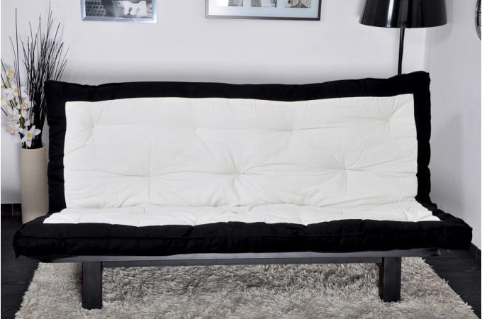 Matelas futon pour clic clac coton ecru tufo design pas cher sur sofactory - Surmatelas pour clic clac ...