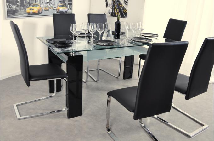 table à manger transparente gloria design sur sofactory