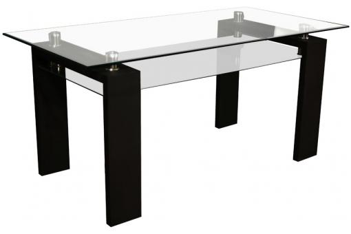 table manger transparente gloria design sur sofactory. Black Bedroom Furniture Sets. Home Design Ideas