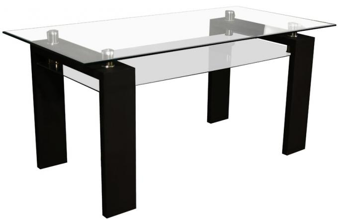 table manger transparente gloria design en direct de l. Black Bedroom Furniture Sets. Home Design Ideas