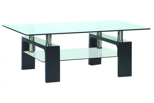 table basse en verre pied en bois gloria design sur sofactory. Black Bedroom Furniture Sets. Home Design Ideas