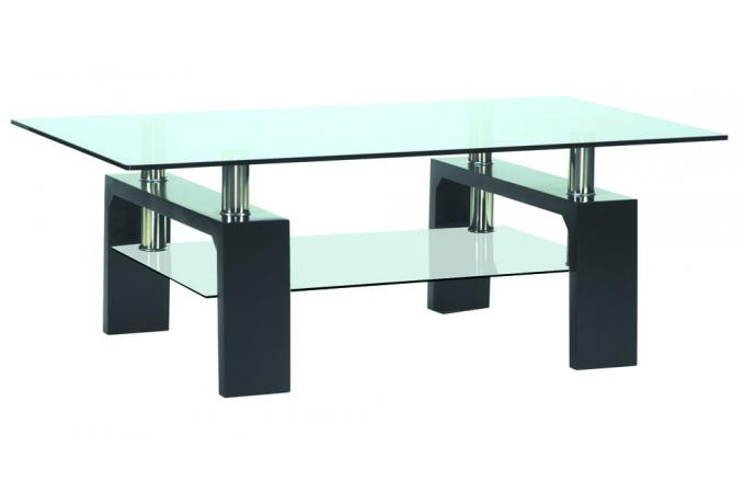 table basse en verre pied en bois gloria design sur sofactory. Black Bedroom Furniture Sets. Home Design Ideas