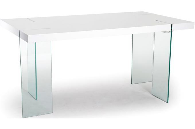 table manger rectangulaire blanche adrien design pas cher sur sofactory. Black Bedroom Furniture Sets. Home Design Ideas