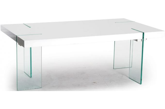 table basse rectangulaire blanche adrien design pas cher. Black Bedroom Furniture Sets. Home Design Ideas