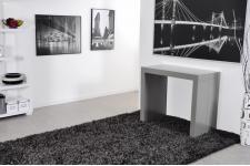 Table console Extensible en bois MDF Grise CHARLOTTE XXL