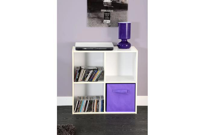rangement 4 cases en bois blanc molly design sur sofactory. Black Bedroom Furniture Sets. Home Design Ideas