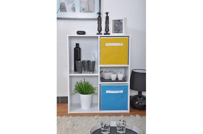 rangement 4 cases et 1 tablette en bois blanc molly design sur sofactory. Black Bedroom Furniture Sets. Home Design Ideas
