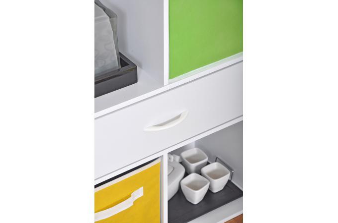 rangement 4 cases et 1 tiroir en bois blanc molly design sur sofactory. Black Bedroom Furniture Sets. Home Design Ideas