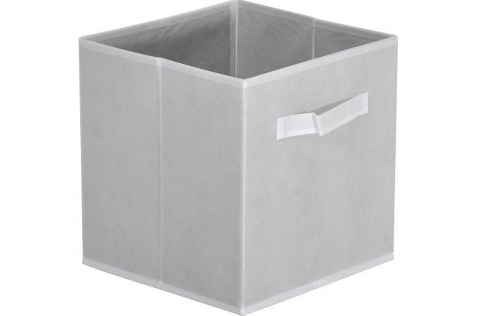 Lot de 10 paniers tiroir tissu blanc monica design sur sofactory - Panier de rangement tissu ...