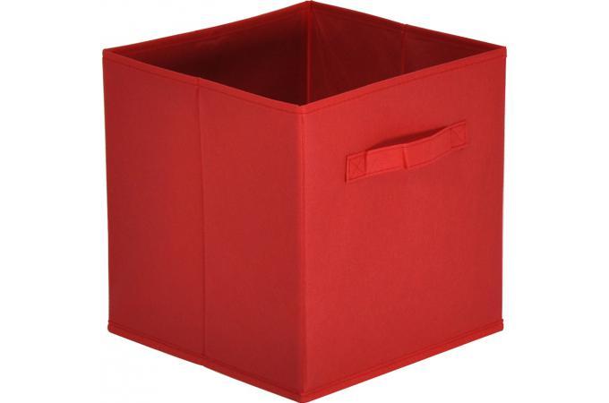 lot de 10 paniers tiroir tissu rouge monica design sur. Black Bedroom Furniture Sets. Home Design Ideas