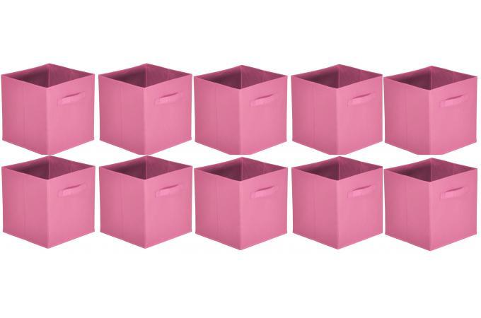 lot de 10 paniers tiroir tissu vieux rose monica design. Black Bedroom Furniture Sets. Home Design Ideas