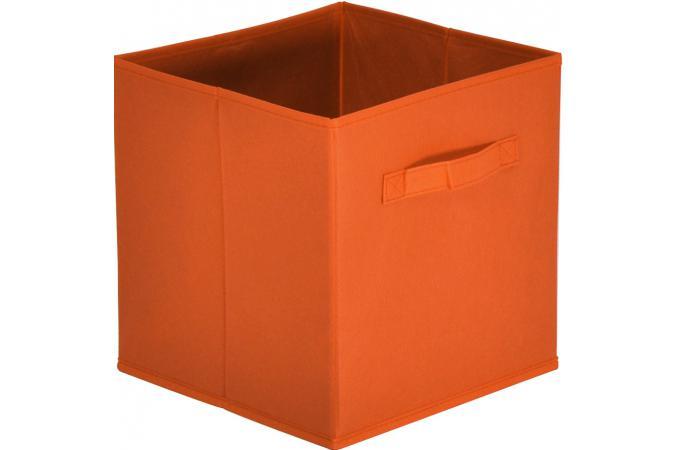 lot de 10 paniers tiroir tissu orange monica design sur. Black Bedroom Furniture Sets. Home Design Ideas