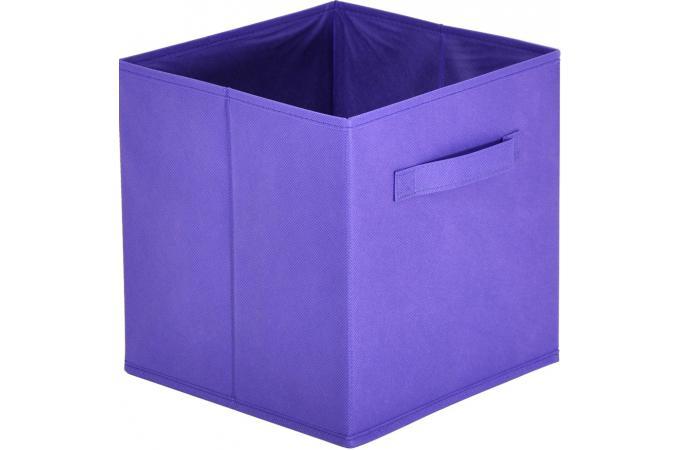 lot de 10 paniers tiroir tissu violet monica design sur. Black Bedroom Furniture Sets. Home Design Ideas