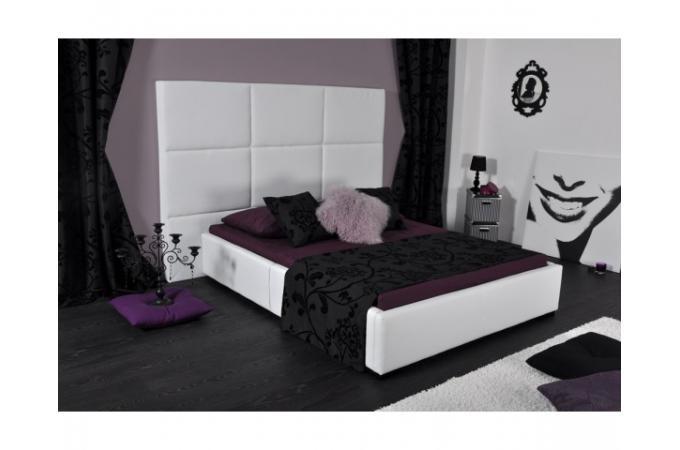 lit 140 x 190 simili blanc douceur design pas cher sur sofactory. Black Bedroom Furniture Sets. Home Design Ideas