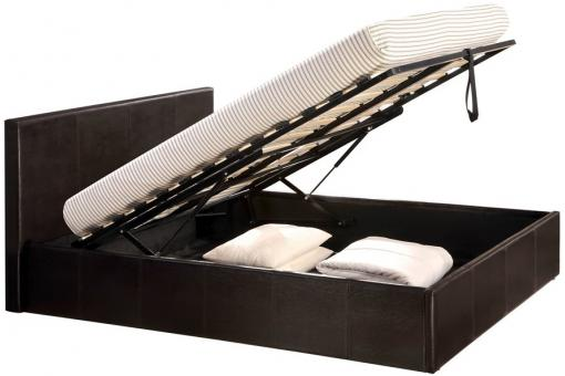 lit coffre 160 x 200 chocolat avec sommier john design sur sofactory. Black Bedroom Furniture Sets. Home Design Ideas