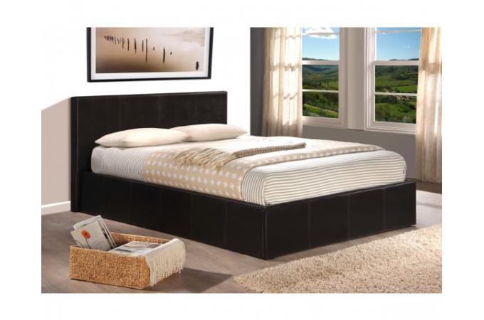 lit coffre 140 x 190 chocolat avec sommier john design sur sofactory. Black Bedroom Furniture Sets. Home Design Ideas